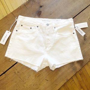 Aritzia Denim Forum Yoko High Rise Short White